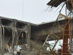 湖南长沙湘江航电枢纽坝顶桥引桥坍塌原因是什么,4人受伤